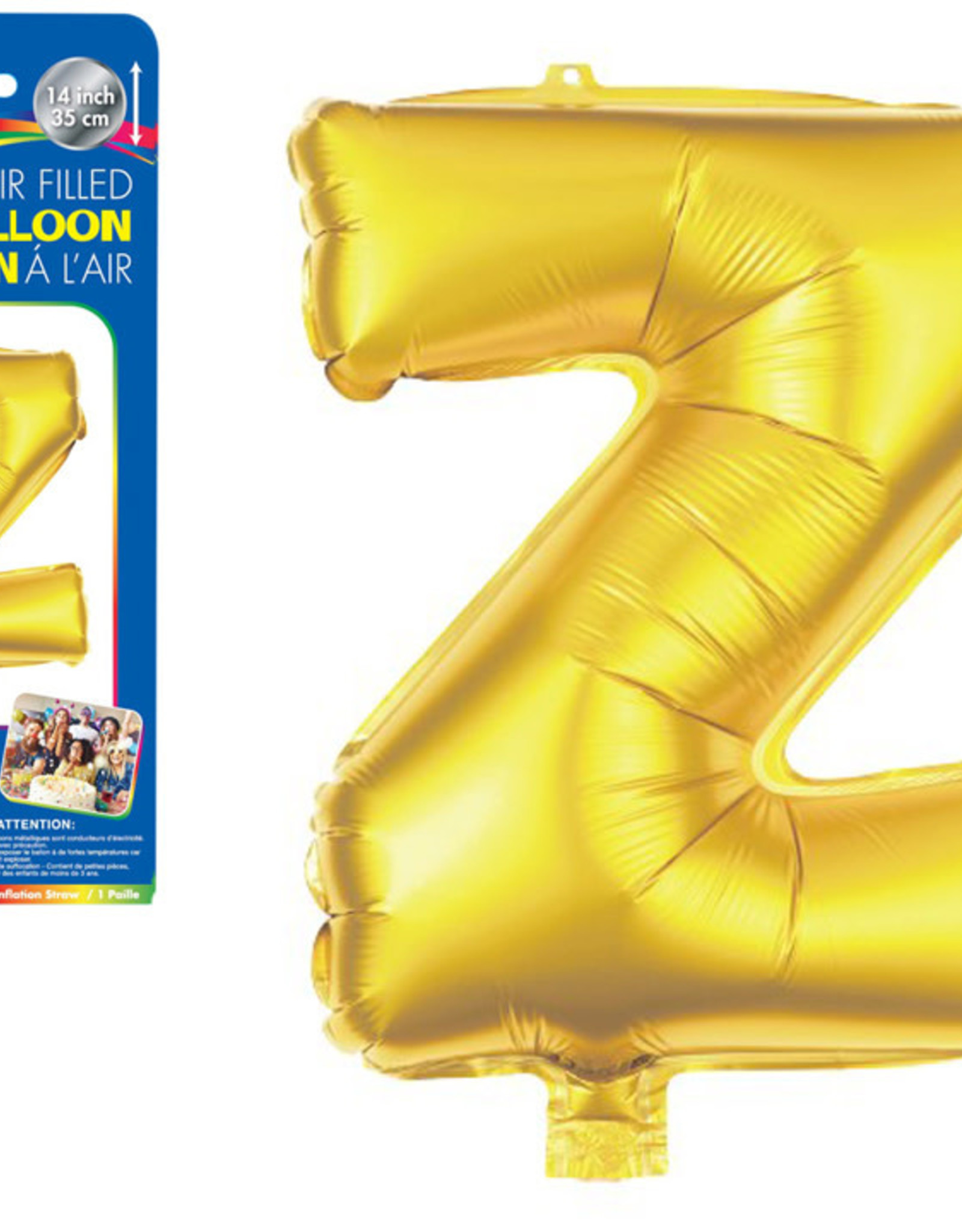 """let's Party Gold Letter Z Balloon (14"""" Air Filled)"""