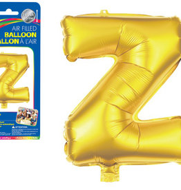 "let's Party Gold Letter Z Balloon (14"" Air Filled)"
