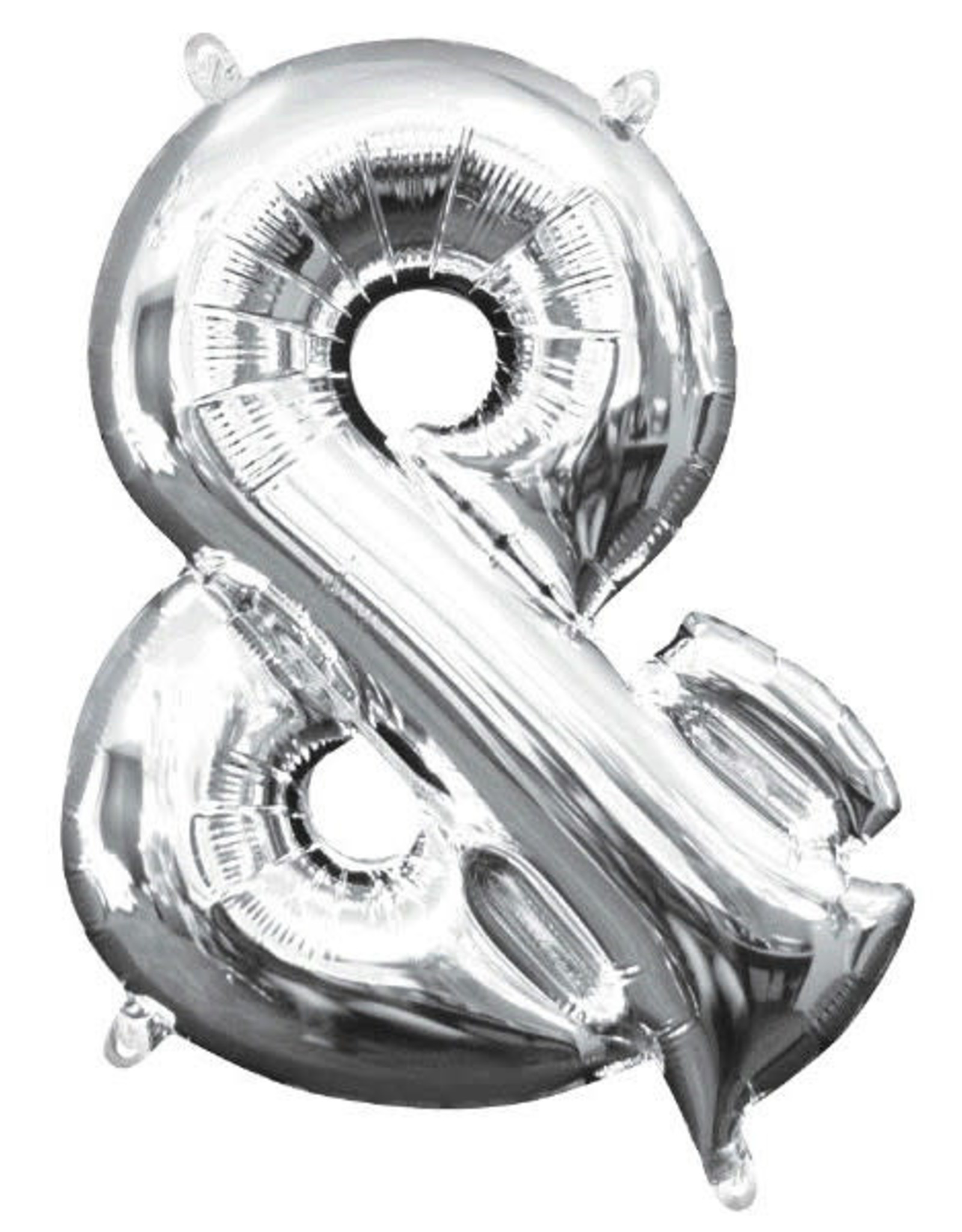 "Silver Ampersand & Balloon  (16"" Air Filled)"