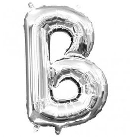 "Silver Letter B Balloon (16"" Air Filled)"