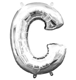 "Silver Letter C Balloon (16"" Air Filled)"