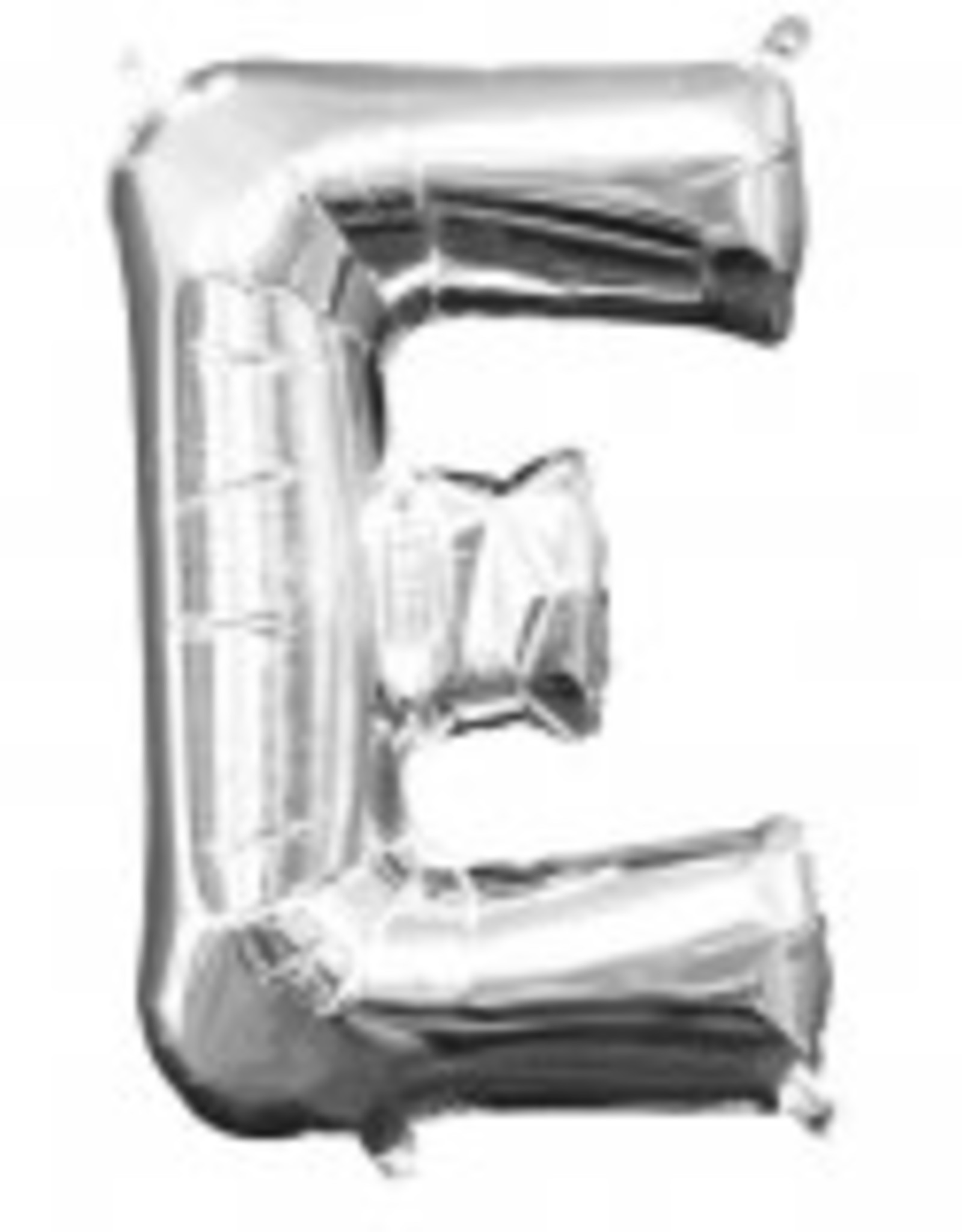 """Silver Letter E Balloon (16"""" Air Filled)"""