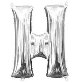 "Silver Letter H Balloon (16"" Air Filled)"