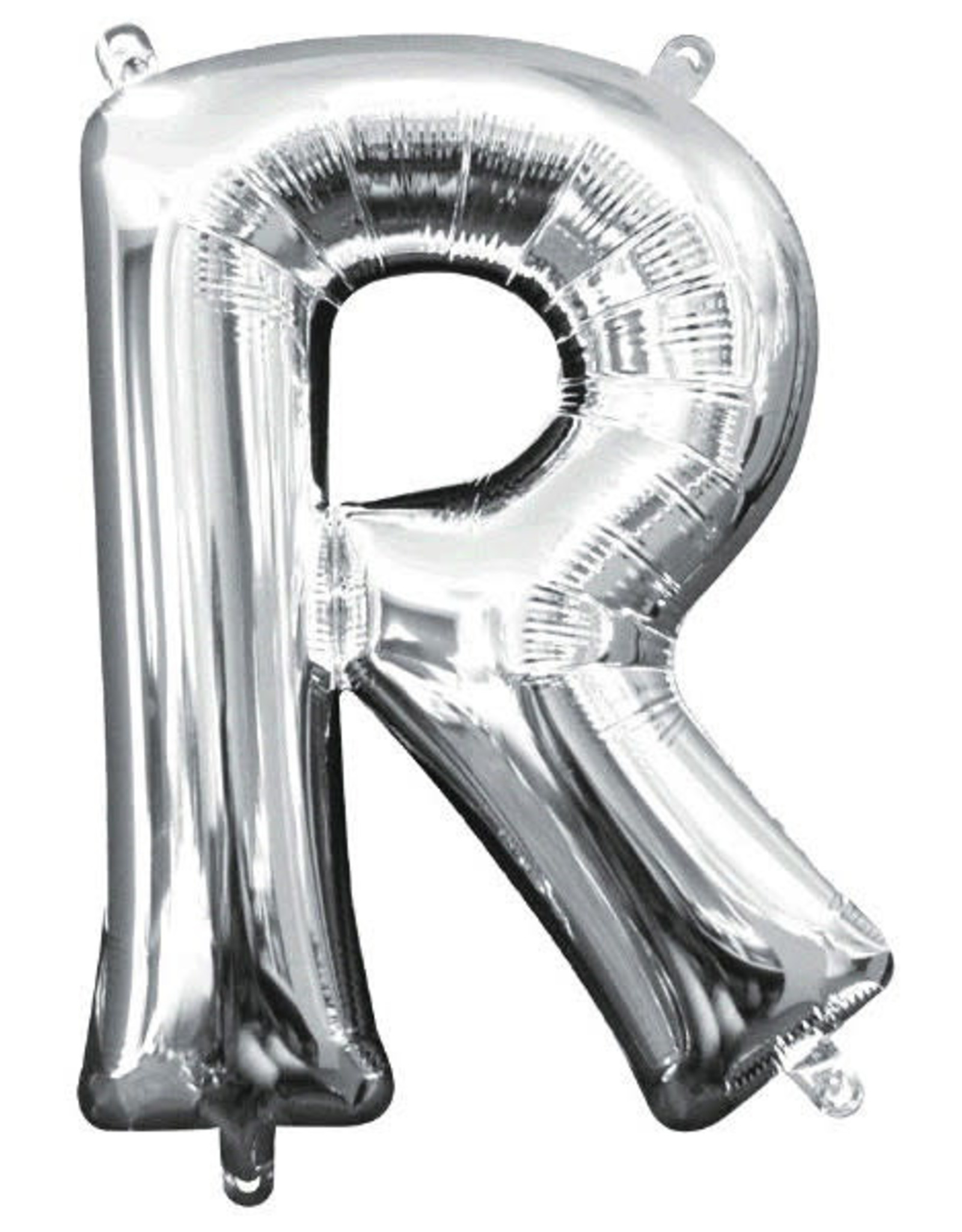 "Silver Letter R Balloon (16"" Air Filled)"