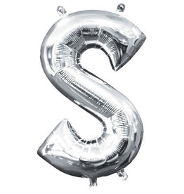 "Silver Letter S Balloon (16"" Air Filled)"