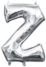 "Silver Letter Z Balloon (16"" Air Filled)"