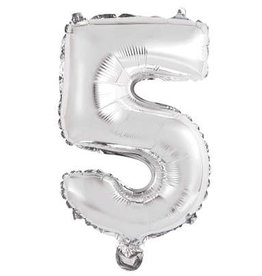 "Silver Number 5 Balloon (14"" Air Filled)"