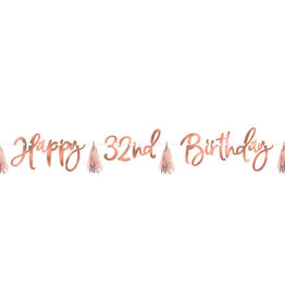 Rose Gold Blush 'Happy Birthday' Custom Age Banner Kit