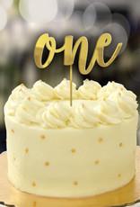1st Birthday Gold Cake Topper