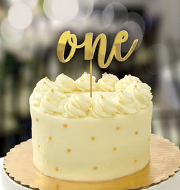 1st Birthday Gold Cake Topper