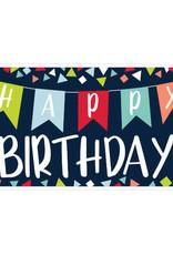 "Navy Blue 'Happy Birthday'  Giant Sign Banner 65"""