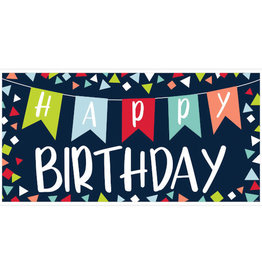 Navy Blue 'Happy Birthday'  Giant Sign Banner 65""