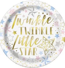 Twinkle Twinkle Stars Dinner Plates 8ct