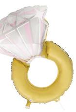"Diamond Ring Foil Balloon 32"""