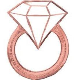 """Rose Gold Diamond Ring Foil Balloon 30"""""""