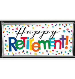 "Happy Retirement 65"" Giant Banner"