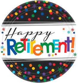 "Retirement 7"" Dessert Plates 8ct"