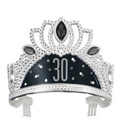 30th Black & Silver Tiara