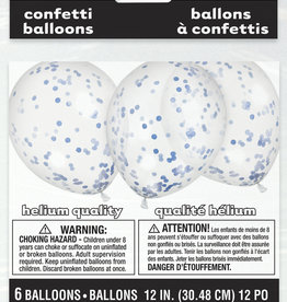 "Confetti Balloons - Royal Blue 12"" 6pk"