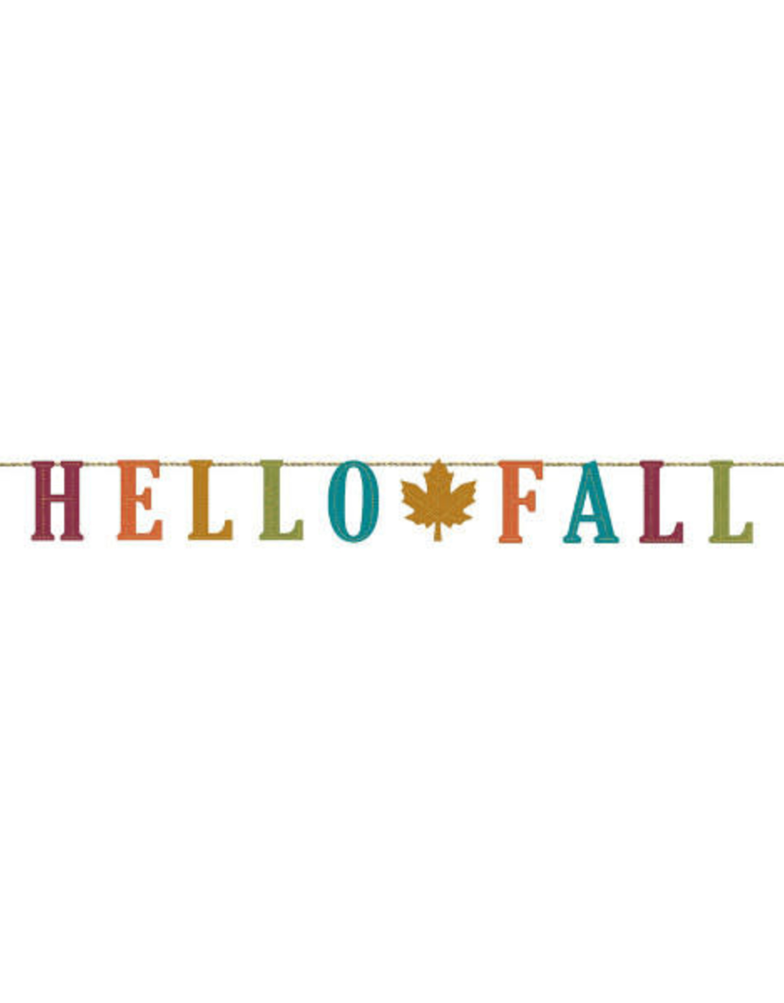 'Hello Fall' Felt Banner 5.5FT