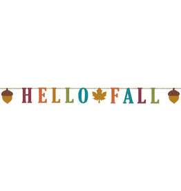 'Hello Fall' Felt Banner 5.5FT