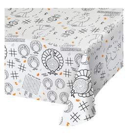 "Thanksgiving Kids Craft Paper Tablecloth 54"" x 88"""