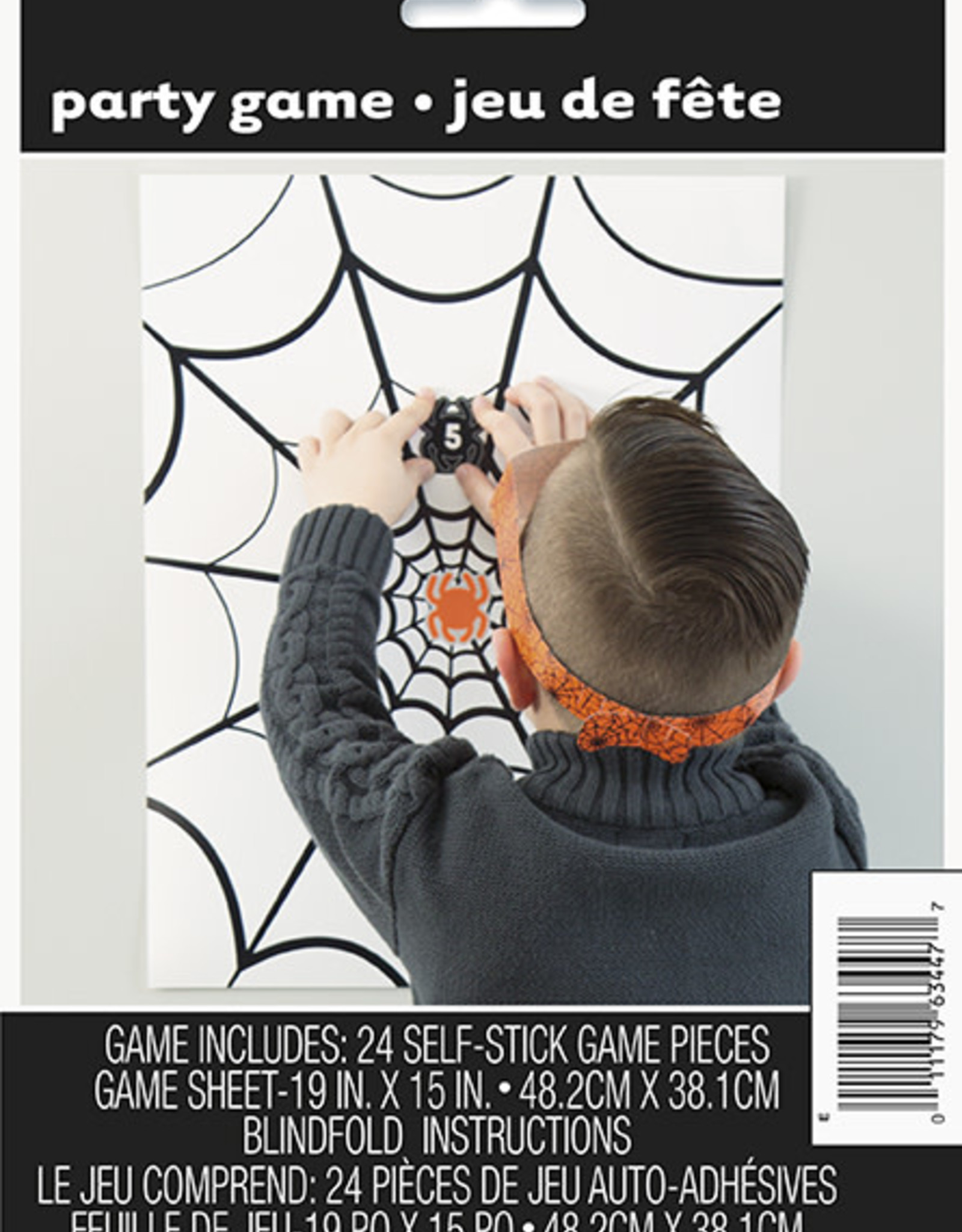 Pin the Spider Halloween Game