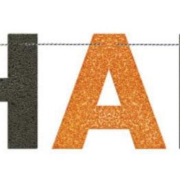 'Happy Halloween' Glitter Banner