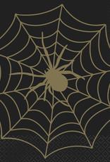 Spider Web Halloween Luncheon Napkins 16ct