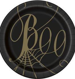 """'Boo' Spider 7"""" Dessert Plate 8ct"""