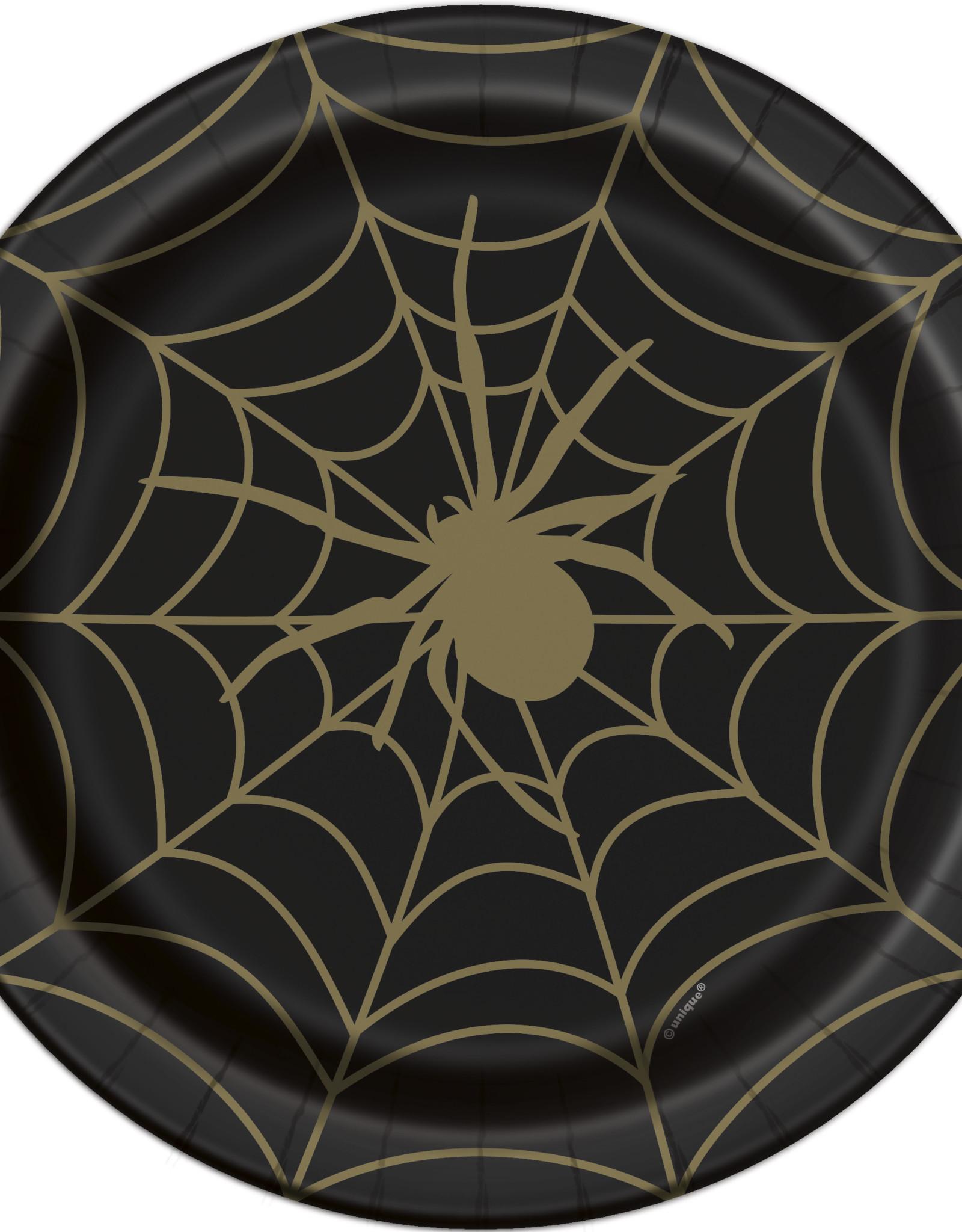 """Spider Halloween 9""""  Dinner Plate 8ct"""