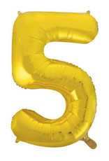 """34"""" Gold Number 5 Balloon"""