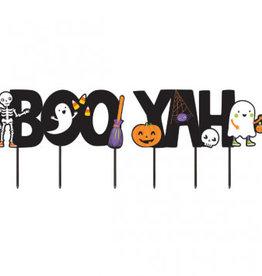 BOO YAH Halloween Yard Sign