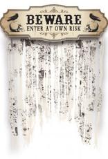 Beware Door Curtain