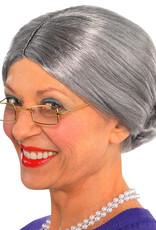 Grey Old Lady Wig Adult