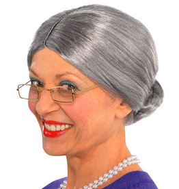 Grey Old Lady Wig Adult
