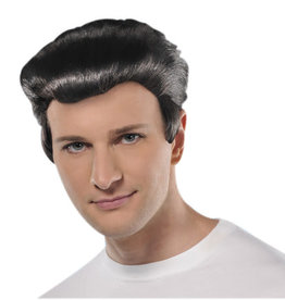 50's Black Slick Back Wig Adult