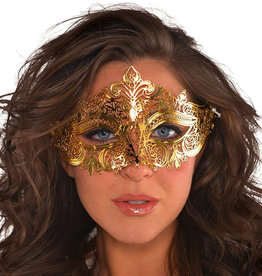 Gold Metal Filigree Mask Adult