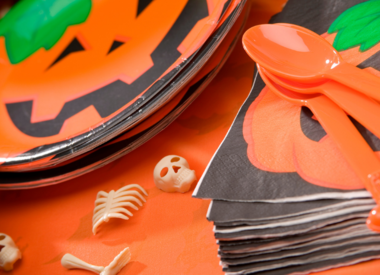 Halloween Plates, Napkins and Cups