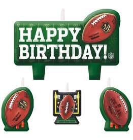 Football Candles 4ct