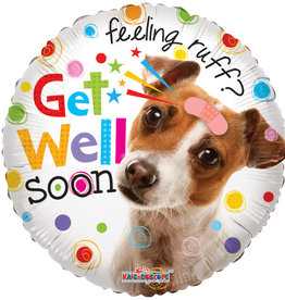 Feeling Ruff Get Well Foil Balloon 18""