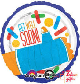 Get Well Soon Foil Balloon 18""