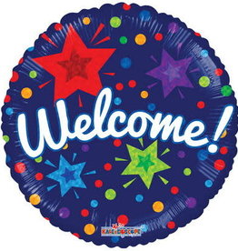 Welcome! Stars Foil Balloon 18""