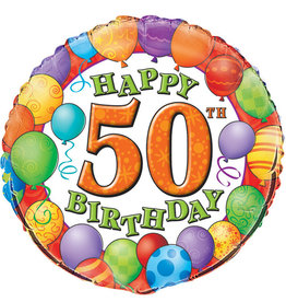 50th Birthday Foil Balloon 18""