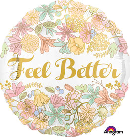 Feel Better Floral Foil Balloon 18""