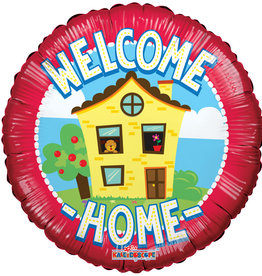 "Welcome Home House Foil Balloon 18"" (One Sided)"