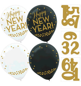 "Count Down New Year 12"" Latex Balloons 12ct"