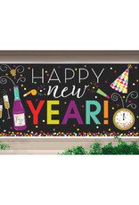 """New Year's Large Horizontal Banner 65"""" x 33 1/2"""""""