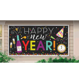 "New Year's Large Horizontal Banner 65"" x 33 1/2"""