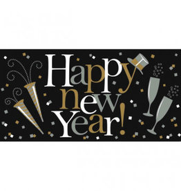 "Large Happy New Year Banner 33.5"" x 65"""